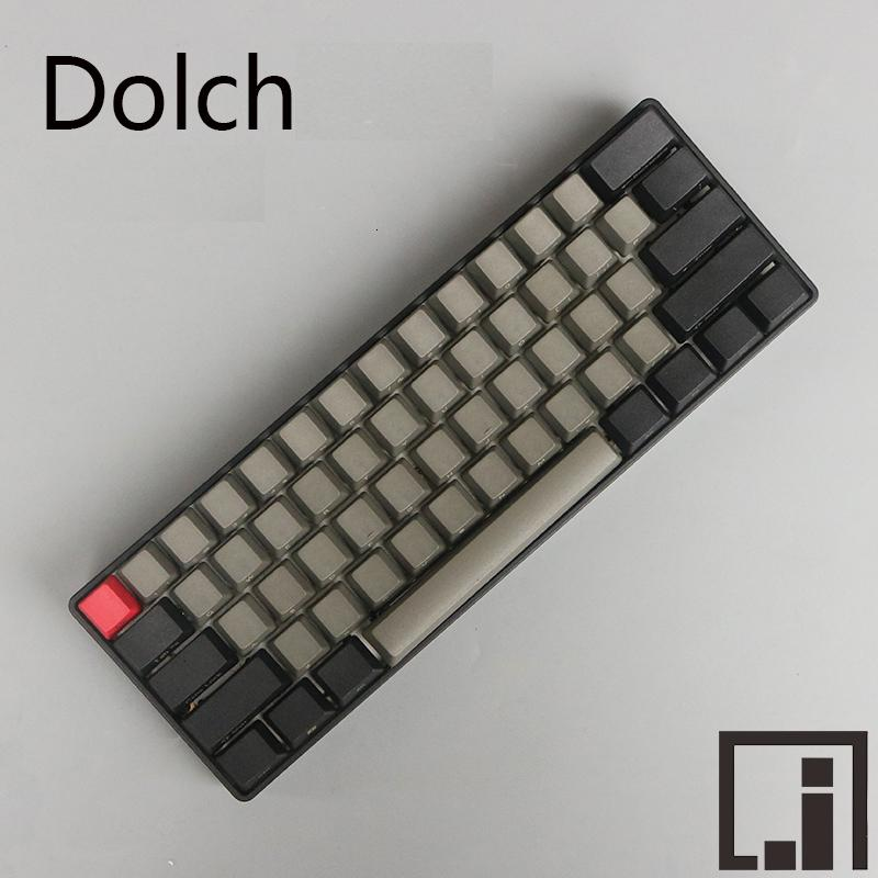 PBT Dolch Keycaps inside ingraved OEM for DIY Gaming Mechanical Keyboard
