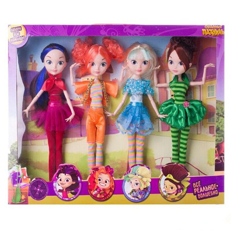 Russa dos desenhos animados de fadas fantasia patrulha boneca moda unisex boneca plástico diy pano modelo brinquedos