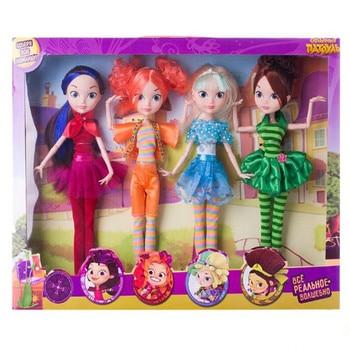 Russian Cartoon Fairy Fantasy Patrol Doll Fashion Unisex Doll Plastic DIY Cloth Model Toys