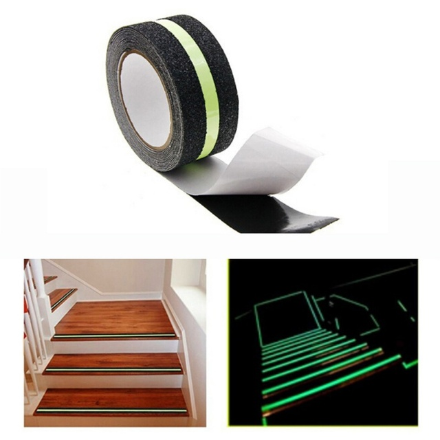 Self Adhesive Anti Slip Stair Sticker Frosted Safety Warning Ground  Stickers Colored PVC Anti
