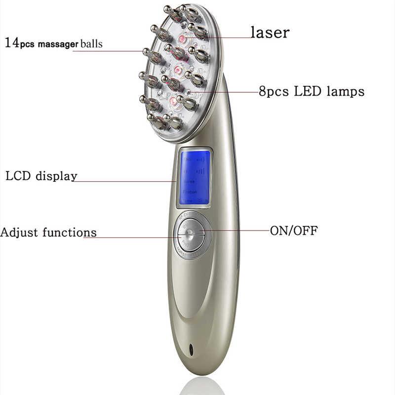 Anti Perdita Dei Capelli del Laser Pettine Massaggiatore RF SME Infermiera LED Photon Laser Stimolare Testa del Cuoio Capelluto Riparazione Ricrescita Dei Capelli Pennello Massaggiatore