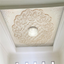 beibehang Custom Wallpaper Beige Yellow 3d Stereo Stone Carving European Style Ceiling Hanging Background Wall paper