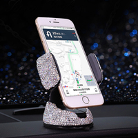 Crystal Diamond Mobile Car Phone Holder Air Vent Mount Mobile Phone Stand Holder Adjustable for iPhone GPS Styling