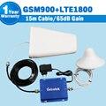 1 Conjunto Ganho de 65dB GSM 900 Mhz 1800 Mhz Dual Band Repetidor Móvel Reforço de Sinal de telefone GSM 900 4G LTE 1800 Celular Amplificador de Antena