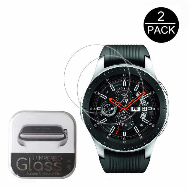 2pcs For Samsung Galaxy Watch 42mm and 46mm Tempered Glass Screen Protector Protective Film Guard Anti Explosion Anti-shatter