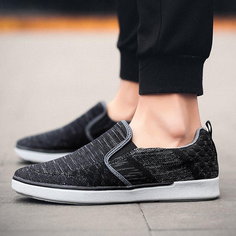 CYYTL Performance Men's Loafers Soft Flyknit Slip-On Walking Shoes Spring Casual Male Sneakers Zapatos de Hombre Erkek Ayakkabi (32)