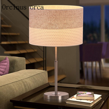 Modern minimalist bedroom living room  lamp bedside lamp Nordic study warm fashion wedding lamp Postage free