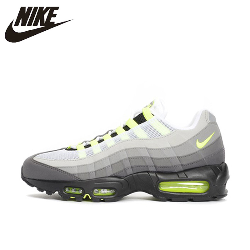 hot sales 8e724 fbab8 NIKE Air Max 95 OG Original Mens Running Shoes Mesh Breathable Stability  Support Sports Sneakers For