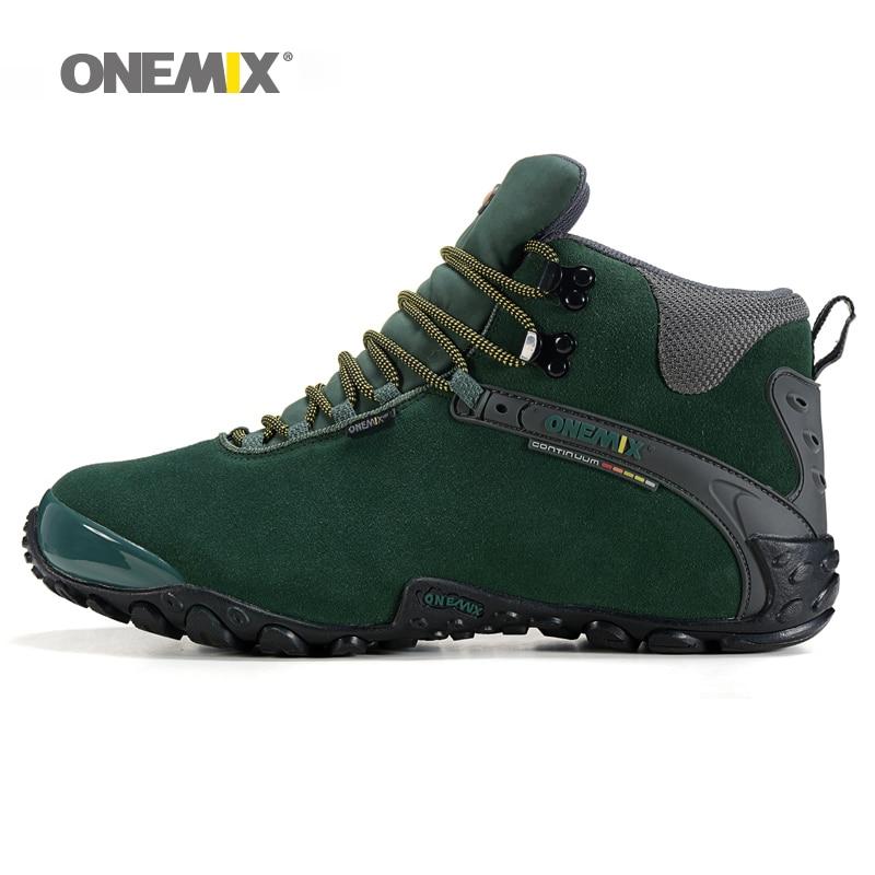 Onemix women hiking shoes winter boots lady anti slip outdoor snow sport sneaker wool warm woman trekking autumn green gray power supply r2w 6500p r 500w tested working good