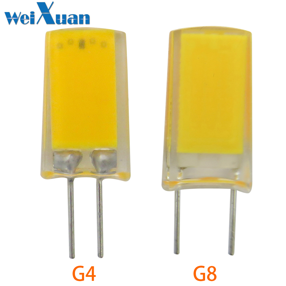Light Bulbs G4/g8 Bi-pin Base Led Lamp 1909 Cob Epistar Chip 2w 110v/220v No Dimmable White Warm White For Crystal Chandelier Light 1pc To Be Highly Praised And Appreciated By The Consuming Public Led Bulbs & Tubes