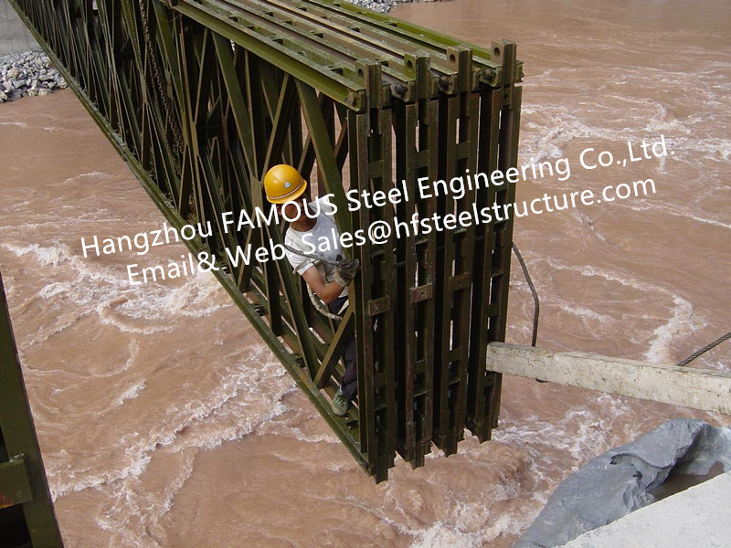 Prefabricated Steel Bailey Bridge Modular Designed Temporary Emergency Mabey Panel Portable Highway Bridging Delta Truss Model