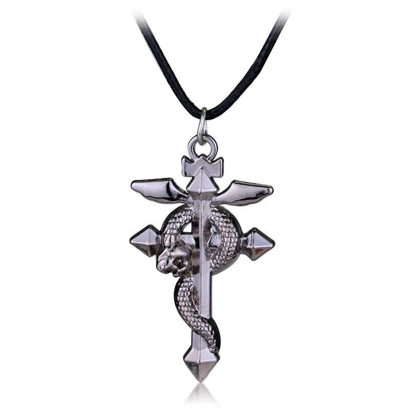 ᐊFullmetal Alchemist Edward collar elric flamel Cruz símbolo ...