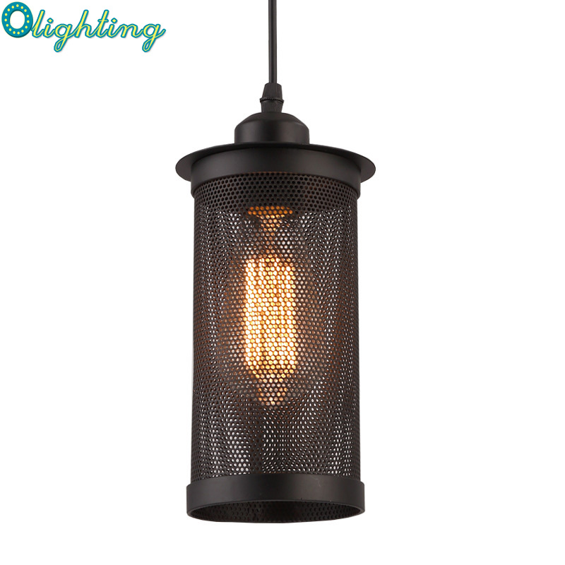 Retro Industrial Black caged Pendant Light Suspension Wrought Iron Net Edison Pendant Lamp Hanging Dining Room Restaurant Lights bestdvr 805 light net в москве
