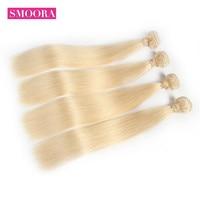 Color 613 Blonde Brazilian Straight Hair Bundles 4 Pieces / Lot Mixed Length 12 24 inch Honey Platinum Human Hair Extensions