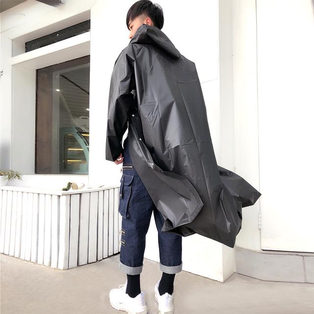 Women Raincoat Men Black Rain Clothes covers Impermeable Rainwear  Capa de chuva chubasquero Poncho Waterproof Hooded Rain Coat