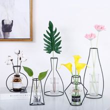 2018 Creative Nordic Minimalist Abstract Vase Lines Black A Iron Flower Dried