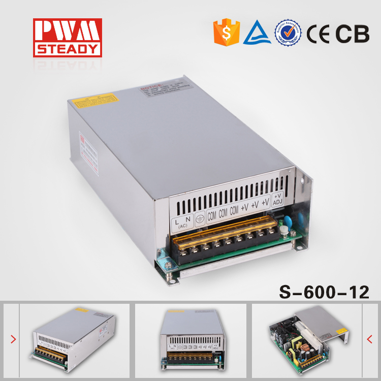 ФОТО (S-600-12) Hot sale switching power supply 600w 12v 50a electric power supply 600W 12V