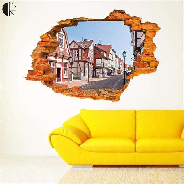 90cmx60cm Creative 3D DIY Scenery Home Decor Wall Stickers ...