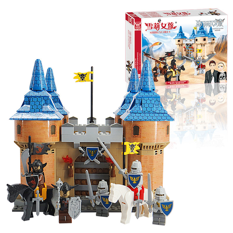 J523 Castle Building Block Sets 576pcs Construction Bricks Enlighten Child Educational Toys Kids Gift j uff construction law yearbook 1995