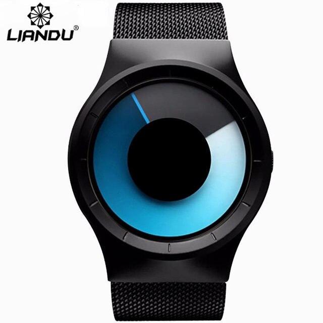 LIANDU Новый Топ Швейцарские Часы Мужчины Марка мужские Часы Ультра Тонкий Сетка Из Нержавеющей Стали Группа Кварцевые Часы Моды Случайные наручные часы