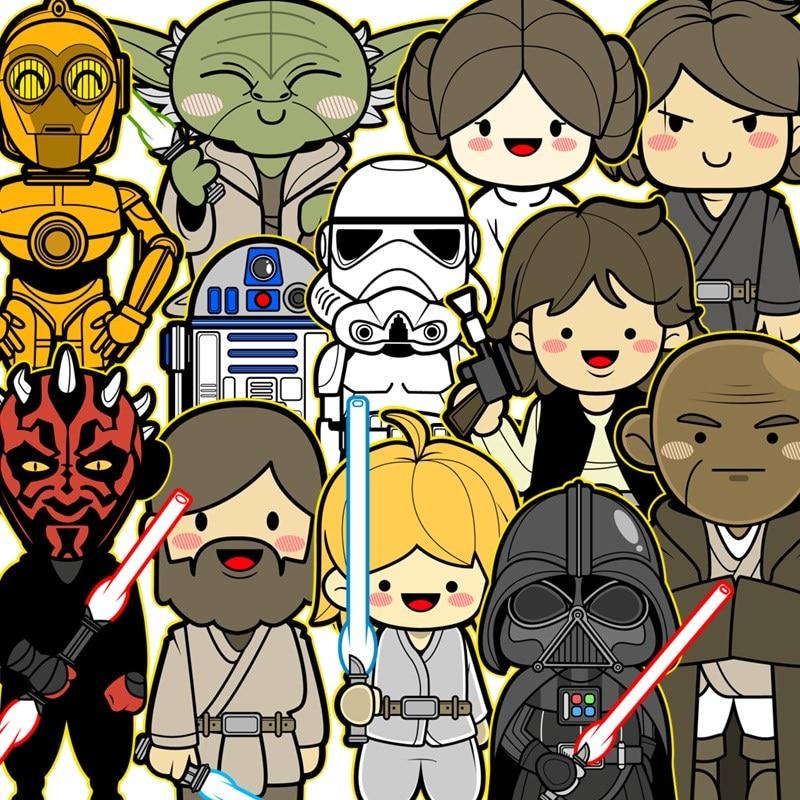 Star Wars 11 Klassik personajlar üçün dizüstü etiketlər, DIY - Noutbuklar üçün aksesuarlar - Fotoqrafiya 2
