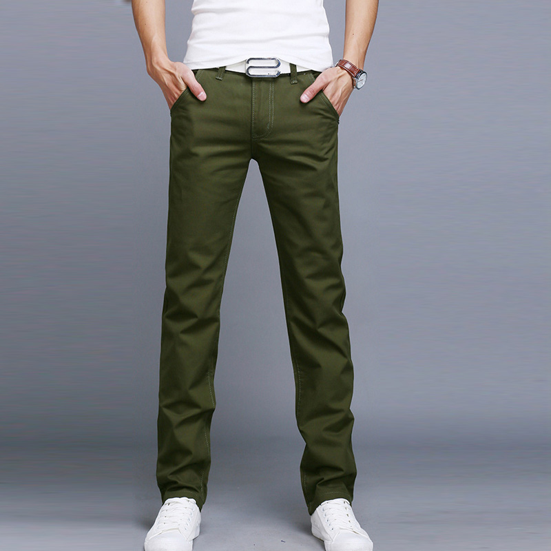 Fashion Fashion Men Business Casual Pants Cotton Slim Straight Trousers Spring Summer Long Pants HSJ88