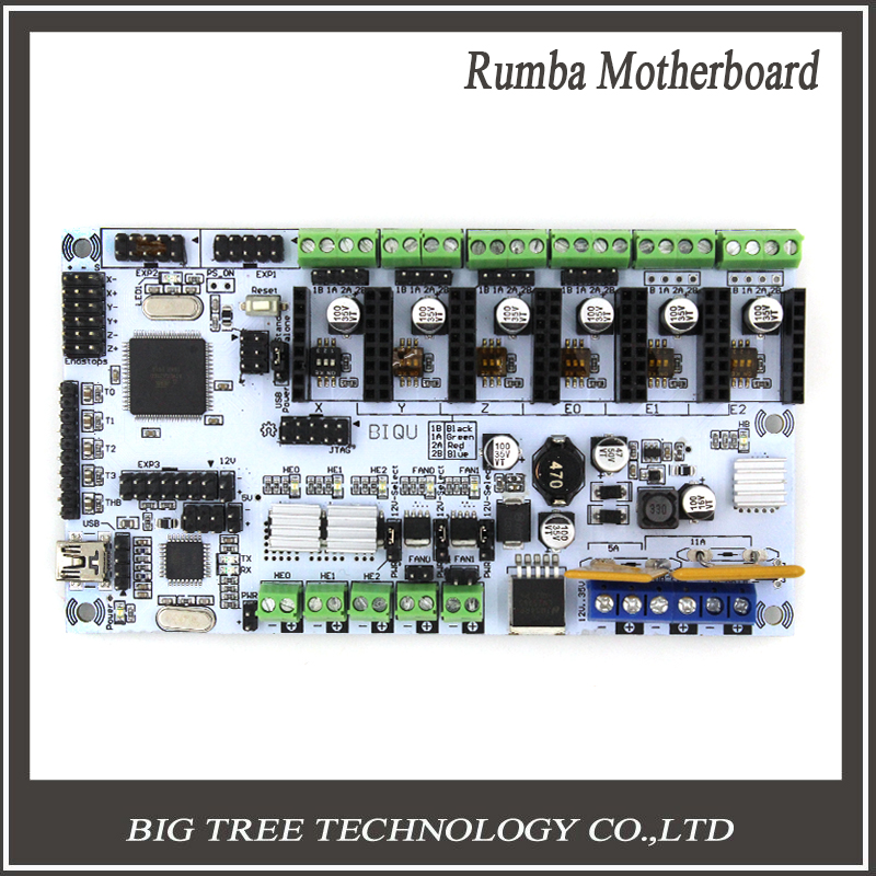 3D printer mother board BIQU rumba MPU / 3D printer accessories RUMBA optimized version control Board biqu rumba control board for 3d printer motherboard rumba mpu rumba optimized version with 6pcs a4988 stepper driver