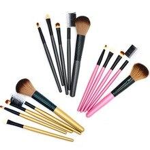 Multicolor Polvo de Cara Fundación Cepillos Pinceles de Maquillaje de Sombra de Ojos Crema de Labios Conjunto