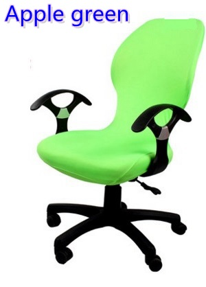 Apple green colour lycra computer chair cover fit for office chair with armrest spandex chair cover decoration wholesale
