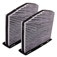 2 pcs Air Filters Systems Pack Charcoal Cabin Air Filter For VW
