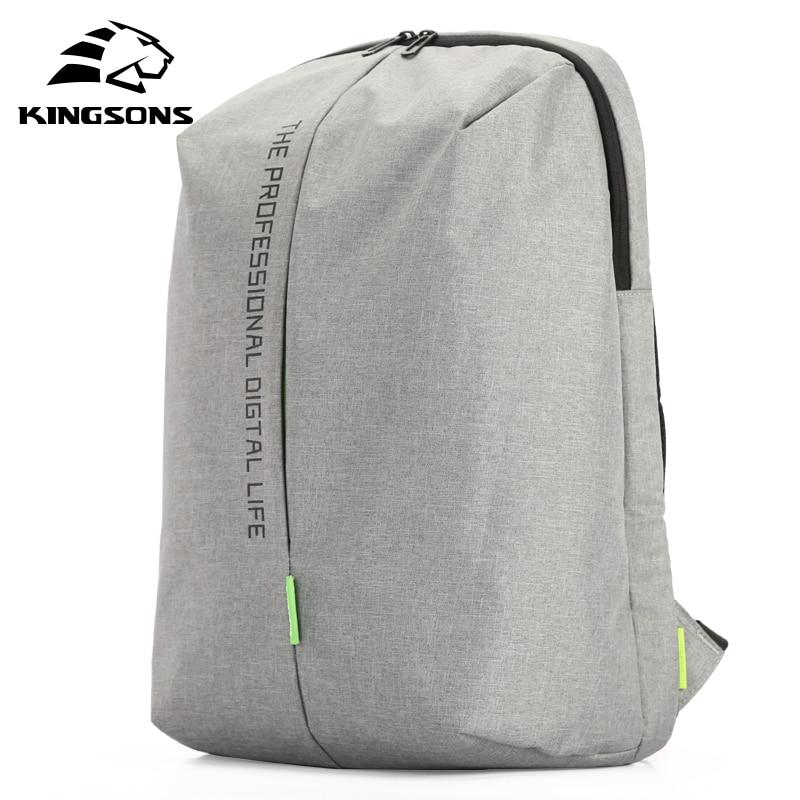 Kingsons ноутбук рюкзак 15,6 дюймов Высокое качество водонепроницаемый нейлон сумки бизнес Dayback мужчин и женщин рюкзак
