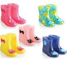 Pluie bottes filles 2017 Quatre saisons nouvelle chaude mignon cristal de gelée bande dessinée bottes de pluie enfants résistant à l'eau pluie bottes enfant botte de pluie