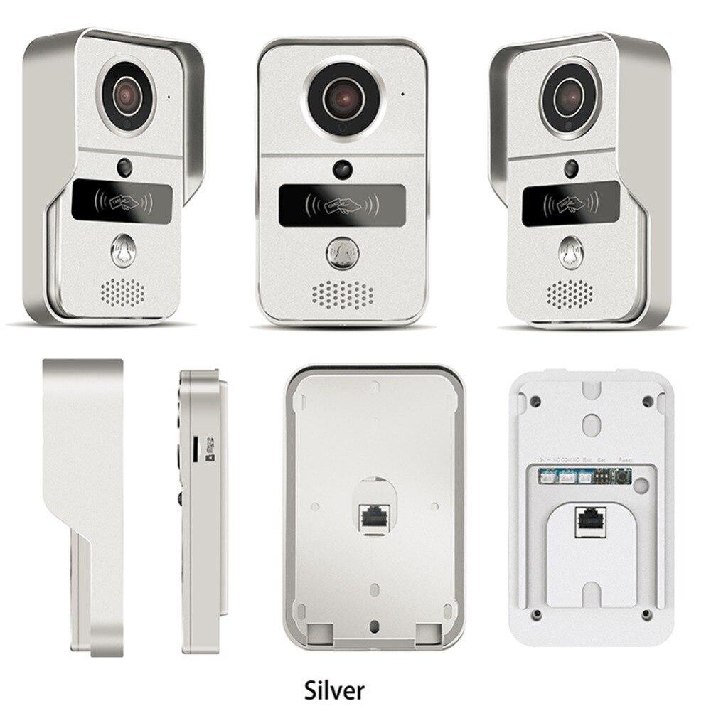 Wireless Sd karte Video Aufnahme Video Tür Telefon + RFID Keyfobs + Innen Glocke Wifi IP Tür Glocke POE Kamera für ONVIF Verbinden NVR - 2