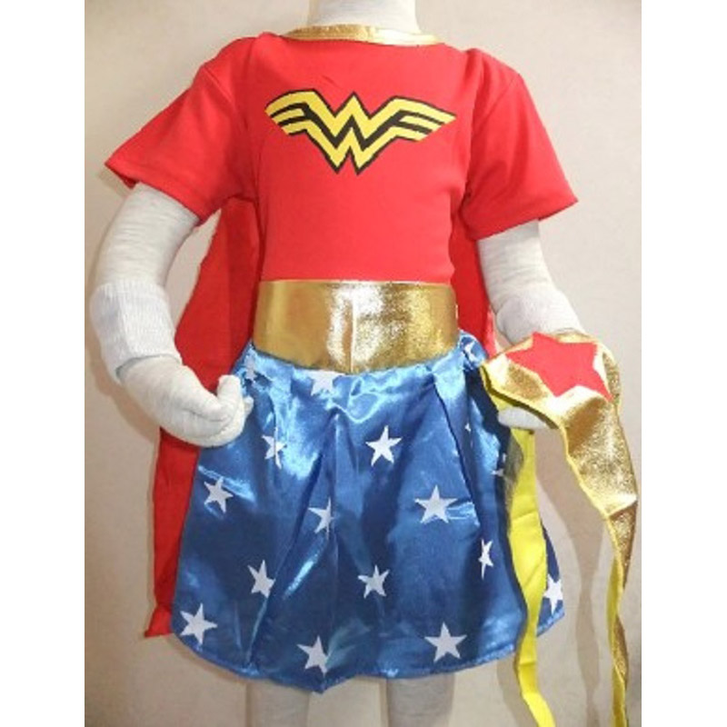 Wonder woman halloween costume for kids-4563