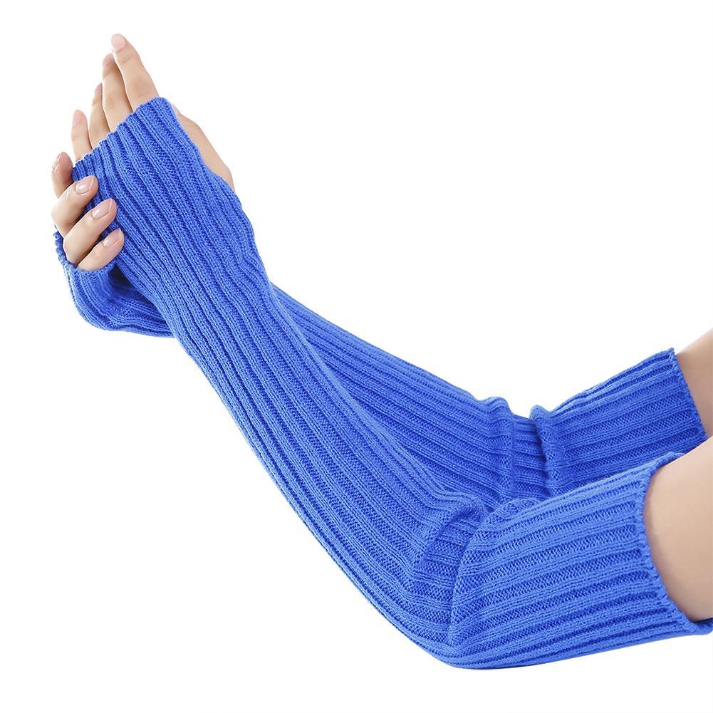 Bekleidung Zubehör Armstulpen 2018 Winter Reine Farbe Wolle Weiche Modische Warme Handschuhe Finger Kaschmir Halb Arme Arm Wärmer 1 Paar