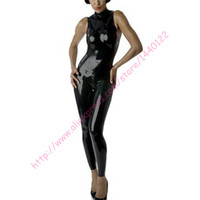 Women Sexy Sleeveless zipper catwoman latex catsuit w/o gloves for adult plus size Jumpsuit Customize Service