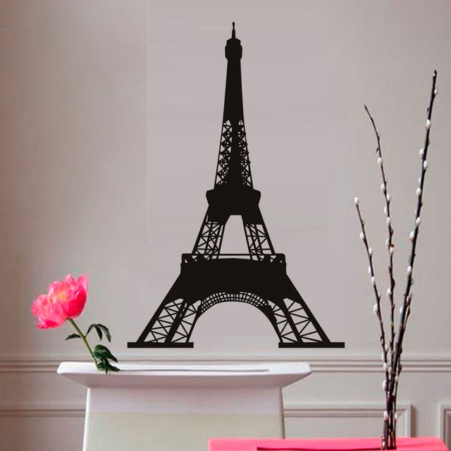 Nice Romantic City France Paris Eiffel Tower Wall Stickers Lover Home Decor  Vinyl Removable Diy Art Wall
