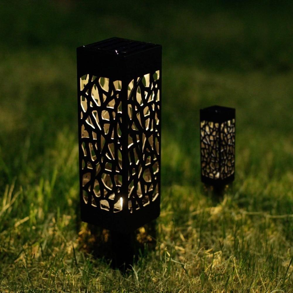 Dikale new light hollow garden lawn lamp solar plug mesh cover lawn light outdoor path landscape waterproof spotlight in LED Lawn Lamps from Lights Lighting