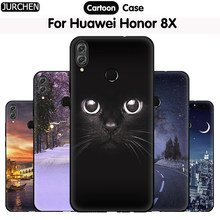 "JURCHEN Case For Huawei Honor 8X Soft TPU Silicone Cartoon Cute Back Cover For Huawei Honor 8X JSN-AL00 a TL00 6.5"" Phone Cases(China)"
