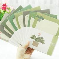 Hot Sale Succulents Pattern Florals Pattern Envelopes Papers Set School Stationery Students Writting Letter Nice Children