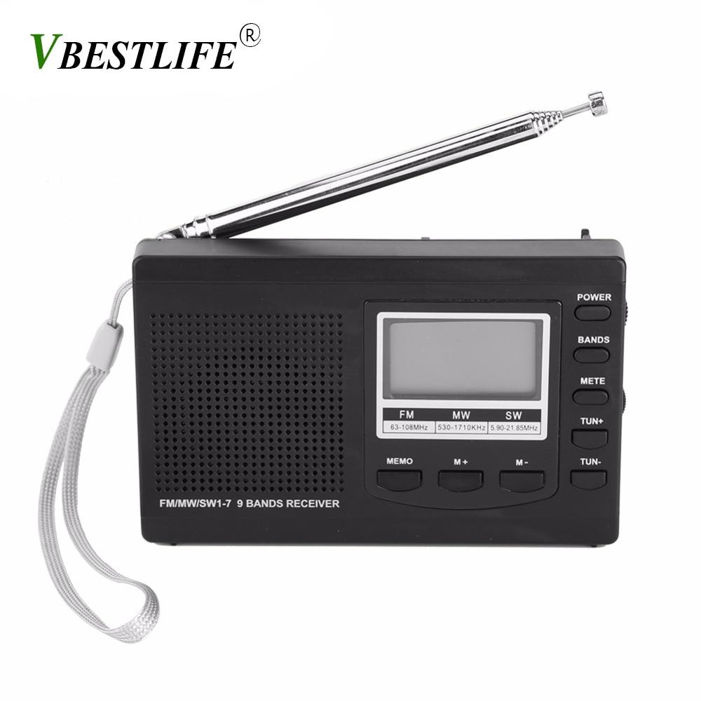 VBESTLIFE Portable Mini radio am fm FM/MW/SW avec Numérique Réveil FM Radio Récepteur numérique portable fm récepteur radio-réveil