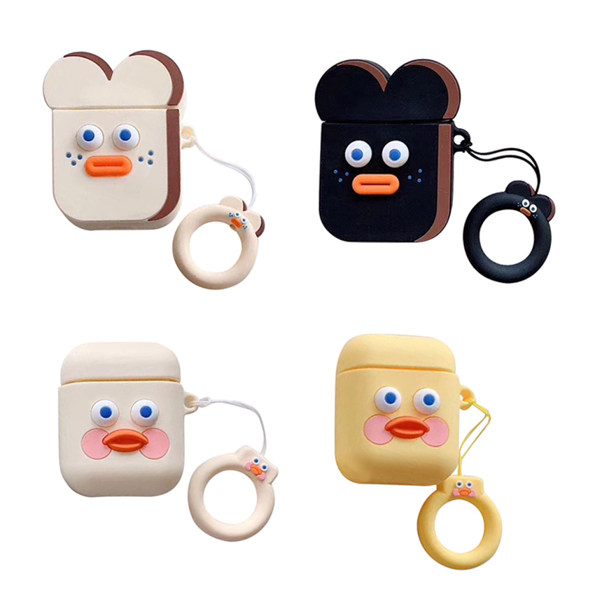 Cute Cartoon Wireless Bluetooth Earphone Case For Airpods Case Cover Silicone Charging Headphones Cases For Airpods 2 Protective