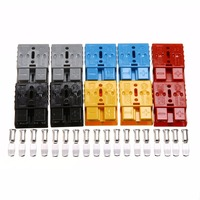 5 Pair 50A 600V Electric Anderson Power Plug Battery Connector Quick Connect Ends 20pcs Terminal Pins