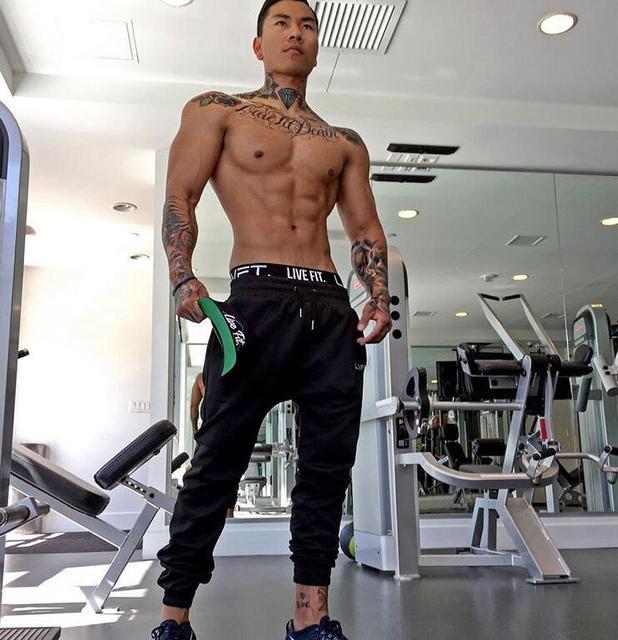 New Fashion mens joggers pants gyms clothing gymshark sweatpants body engineers hip hop harem pants fitness men trousers