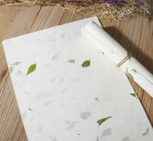 120 sztuk/zestaw chiński XUAN ZHI papieru kaligrafii papier ryżowy ręcznie zrobiony kwiatek zielony liść pisanie papier do pisania malowanie dobrej jakości