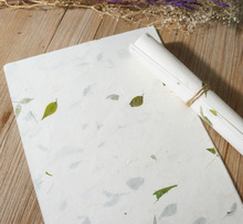 120 개/대 중국어 xuan zhi 종이 서예 쌀 종이 수제 꽃 녹색 잎 쓰기 편지 종이 그림 좋은 품질