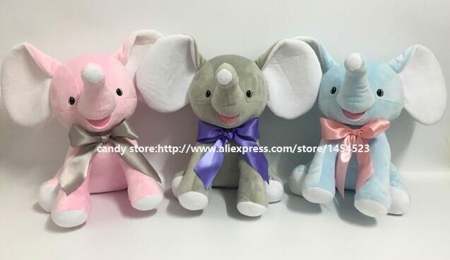 1b1e5b09ed1 50pcs Monogrammed Plush Elephant Toys Personalized Big Ear Elephant Animal  Decor Baby Boy Girl Birthday Shower