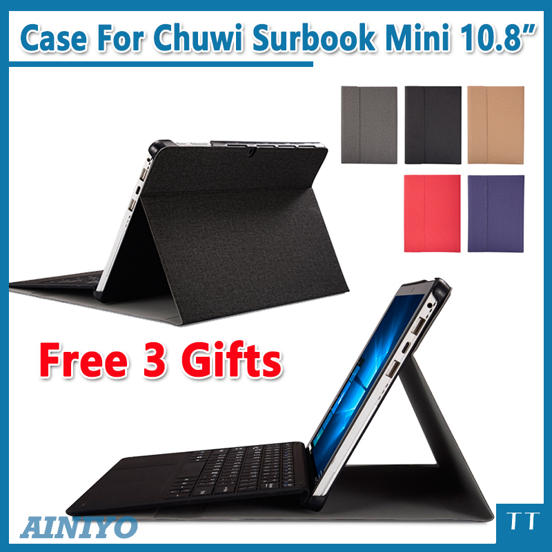 high quality Case For 2018 CHUWI SurBook Mini, Protective cover Case for CHUWI SurBook Mini 10.8 inch + Screen Film gifts surbook sleeve bag for chuwi surbook 12 3 inch tablet pc n3450 ultra thin bag case