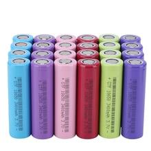 все цены на GTF 4pc 3400mAh 3.7V 18650 Rechargeable Lithium Ion Battery for Flashlight Torch Power Bank Colorful 18650 Li-ion Battery Cells онлайн