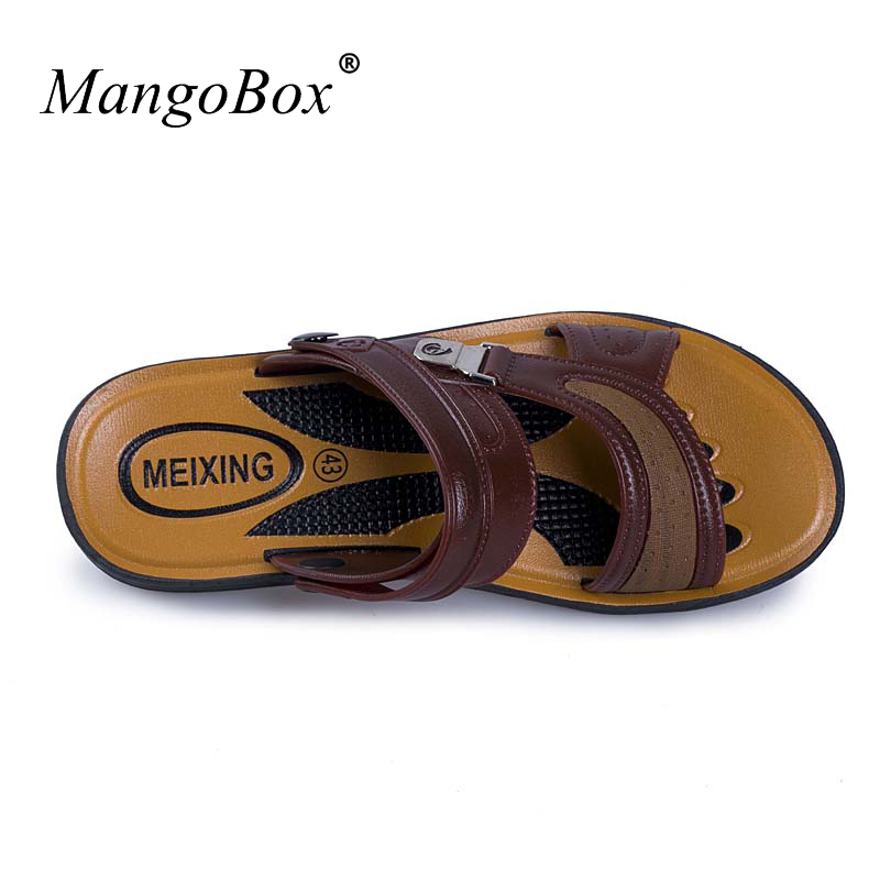 Mans Shoes 2018 Casual Comfortable Male Sandals Summer Slip-on Shoes Breathable Wine Red Sandals for Men
